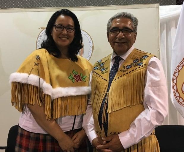 Deputy Grand Chief Mandy Gull and Grand Chief Abel Bosum
