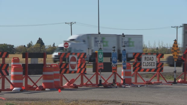 An overpass was constructed at the intersection of Highway 46 and the Trans-Canada Highway over Balgonie and the access point to Highway 1 from Main Street has been permanently closed.