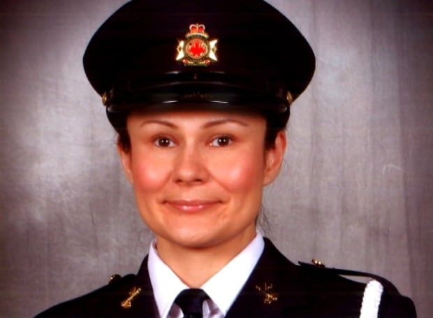 Tracy Mercier in uniform