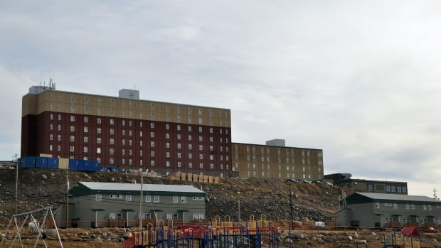 The 8-Storey apartment building in Iqaluit, where Martha Apak and Jimmi Saila were living. The pair allege two Nunastar employees spread 'untruthful' statements about them after evicting them from the property.