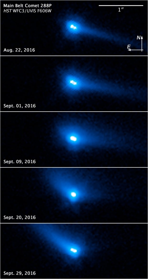 Image of binary asteroid system 288P