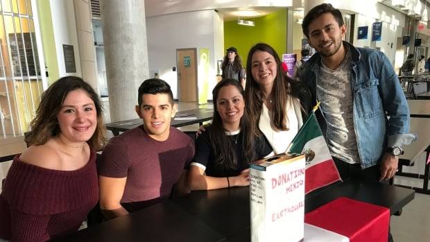 The UBC Mexican Student Association is encouraging people to make donations  to relief organizations.