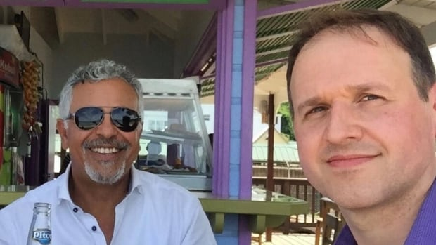Bassem Eid and Craig Coffin, who were working on the Caribbean island of Dominica, have checked in as safe after 48 hours off the grid in the aftermath of Hurricane Maria.