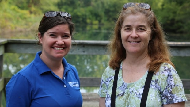 Claire Sanders from the Detroit River Canadian Cleanup, and Karen Cedar from the City of Windsor are two of the organizers of Saturday's Peche Island Day.