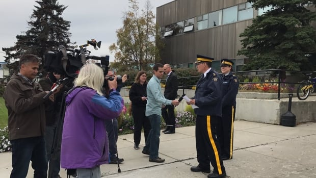 RCMP held a media briefing outside the Whitehorse detachment on Thursday afternoon following a shooting Wednesday that left one person dead.