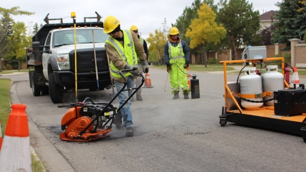 The City of Saskatoon says it has new pothole patching equipment fuelled by propane that will allow crews to permanent fill potholes during winter.