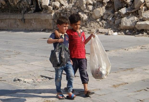 Syrian children in Aleppo