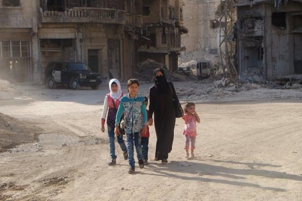 Syrians in Aleppo