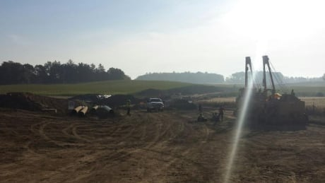 Protestors occupying Enbridge pipeline construction site