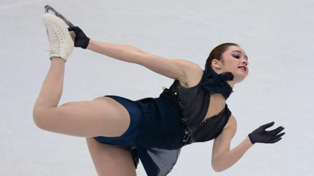 Kaetlyn Osmond, shown in this file photo, staked herself to a comfortable lead after the senior ladies' short program at the Autumn Classic International in Montreal on Thursday.