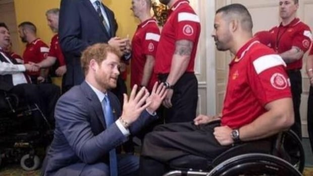 Sudbury's Steve Daniel speaks with Prince Harry at the 2016 Invictus Games. Daniel is competing at the games in Toronto.