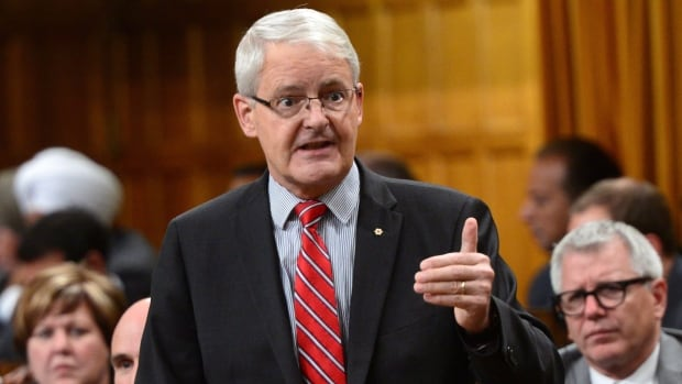 """Minister of Transport Marc Garneau stands during question period in the house of commons on Parliament Hill in Ottawa on Thursday. Garneau has offered the government's definition of """"middle class"""" after a request from the Conservatives."""