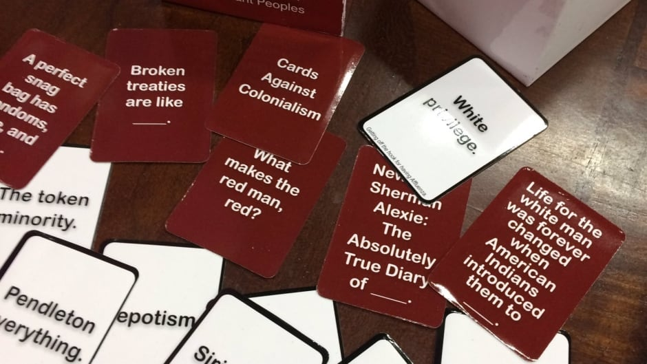 Cards Against Colonialism pokes fun at Indigenous stereotypes and challenges taboos.