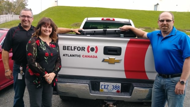 Mark Genge and Tim Benoit with Belfor delivered a donation of new tools to Sandra Whiffen at Habitat for Humanity on Friday afternoon. Hedley Elms with Belfor Gander, Jason Bonia with DeWalt and Todd Whiffen and Mark Tucker with Newfoundland Distributors all contributed to the donation.