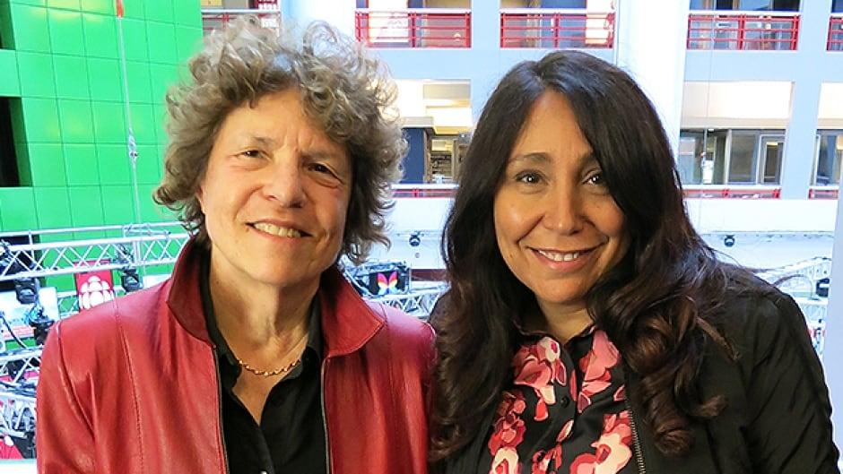 Eleanor Wachtel with Haifaa Al Mansour in Toronto.