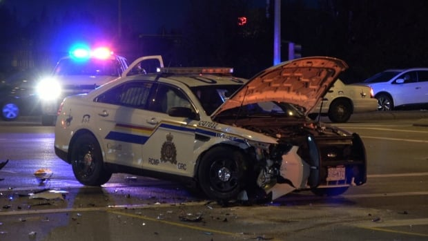 RCMP cruiser damage