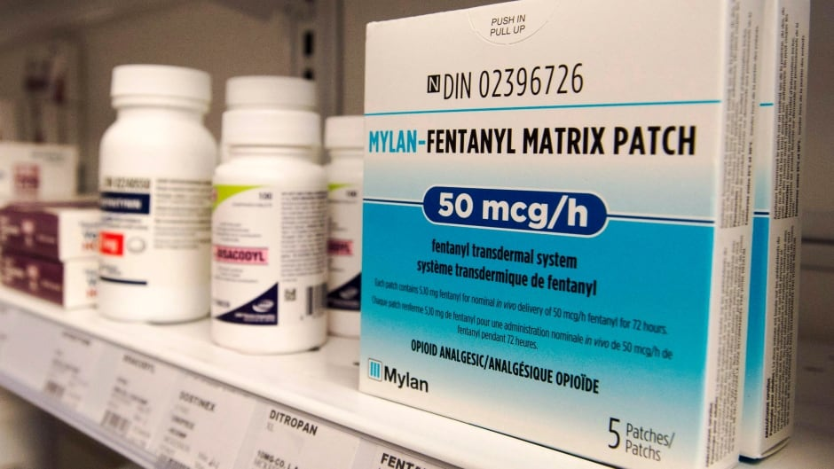 Boxes of fentanyl patches are seen at a pharmacy in Laval, Que., on Thursday, January 26, 2017.