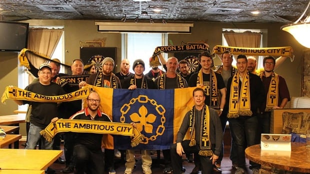 The Barton Street Battalion, the supporters group for the yet to be announced Hamilton soccer entry in the Canadian Premier League is seen in this undated handout photo.