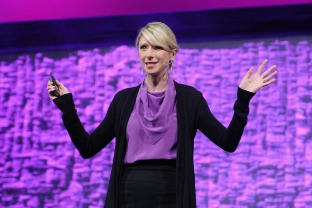 """Dr. Amy Cuddy argues that """"power posing"""" can boost your chances"""