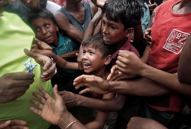 Rohingya child refugees Bangladesh