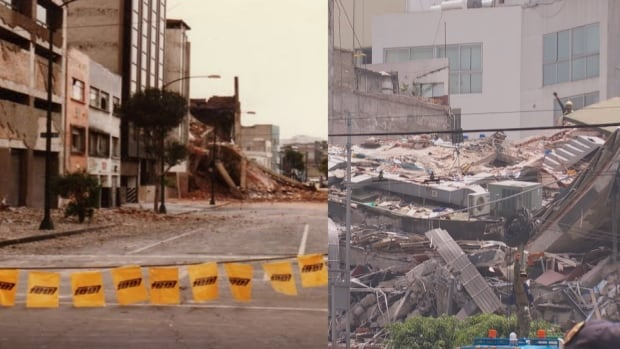 Collapsed buildings, Mexico City, 1985 and 2017 earthquakes