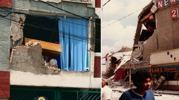 Earthquake damage, Sept. 19, 2017 and 1985, Mexico City