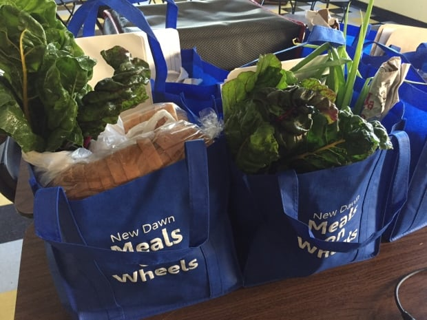 Meals on Wheels produce