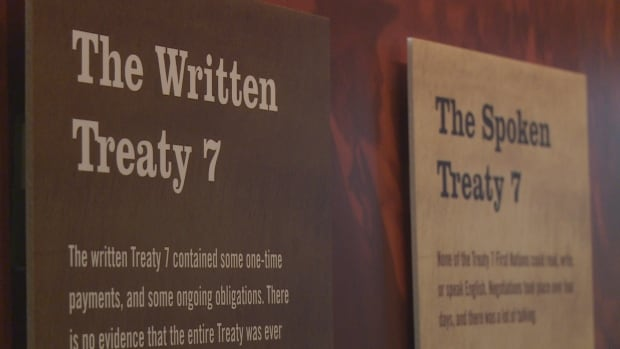 The original Treaty 7 document is on display in Calgary until Oct. 9. This year is the 140th anniversary of the signing.