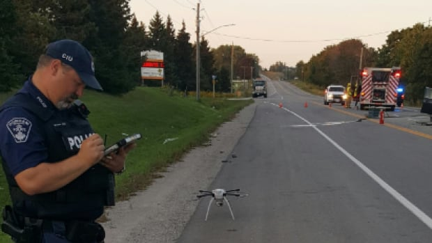 Durham Regional Police were called to the scene on Simcoe St. between Coates Rd. and Raglan Rd. at 5:18 p.m. Friday night.
