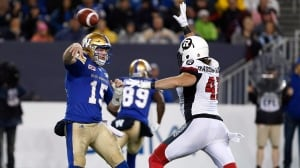 Blue Bombers top Redblacks for 5th straight home win