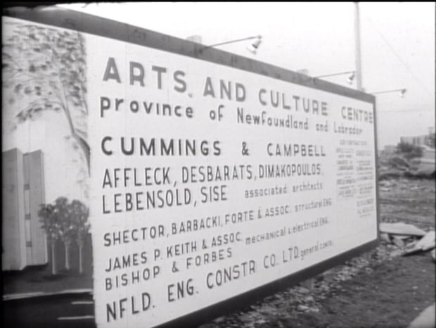 Archival photo of A&C sign