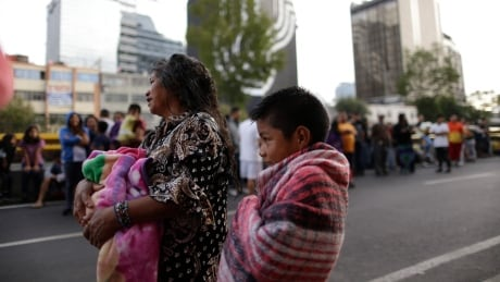 Mexico earthquake aftershock