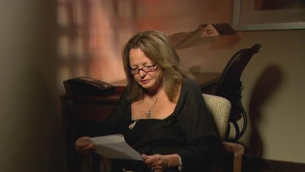 Deb Abrams reads one of the last letters her son Adam sent her before his death.