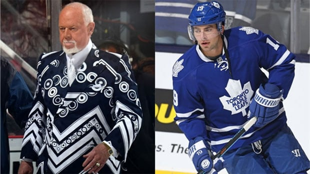 Don Cherry, left, had some harsh words for Joffrey Lupul on Saturday. The Toronto Maple Leafs forward hasn't played in the NHL since 2015-16 and failed his physical at training camp for the second year in a row.