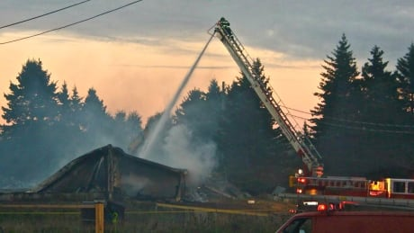 Deer Island lobster storage facility 'decimated' by fire