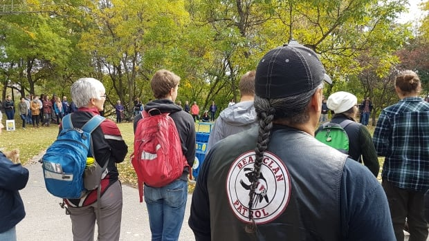 The Rally for Indigenous Rights marched out of Stephen Juba Park in Winnipeg Saturday.
