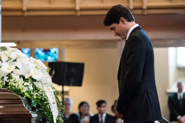 Arnold Chan funeral Trudeau