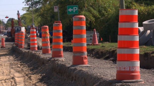 Residents of Donegani Avenue are facing a steep drop from the edges of the road to the centre as construction work takes place on the street.