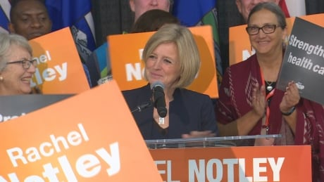 Premier Rachel Notley takes aim at UCP candidates in campaign-style speech