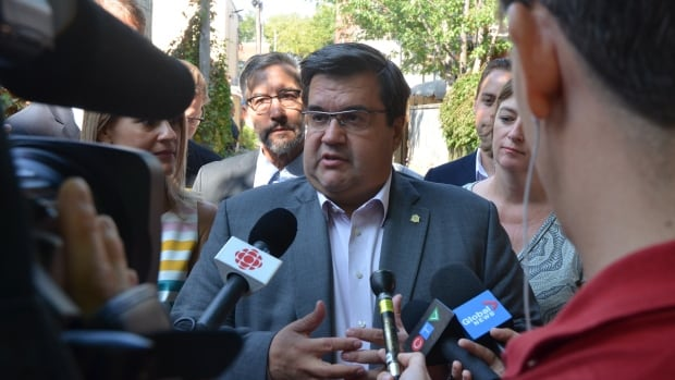 Montreal municipal election incumbent Denis Coderre made his first campaign announcement Saturday in a Villeray Green Alley.