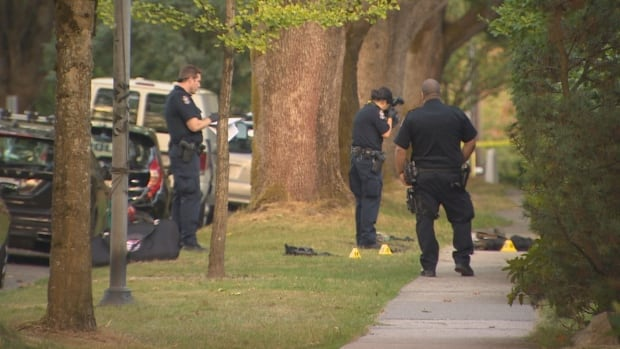 Vancouver police evidence markers Manitoba Street, 18th Avenue