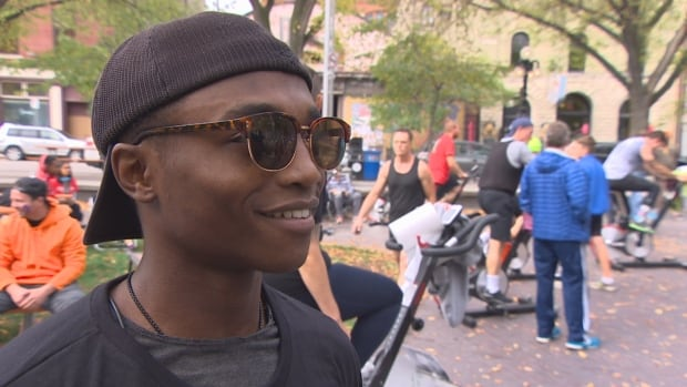 Confiance Rurangirwa is part of the 24-hour Iron Ride, a fundraiser for Pan Am Place, a shelter that uses fitness to help young men struggling with homelessness.
