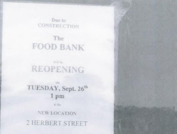 Food bank signs