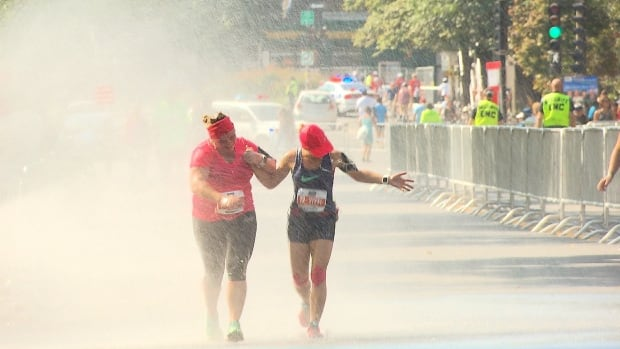 Runners still braved the hot weather and hit the pavement for their races on Sunday.