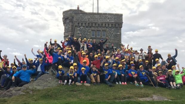 Walkers, cyclists and runners ascended Signal Hill on Sunday as part of the annual Young Adult Cancer Canada Climb.