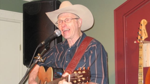 Johnny Burke plays at his venue, the Loft, in Newcastle, Ont.