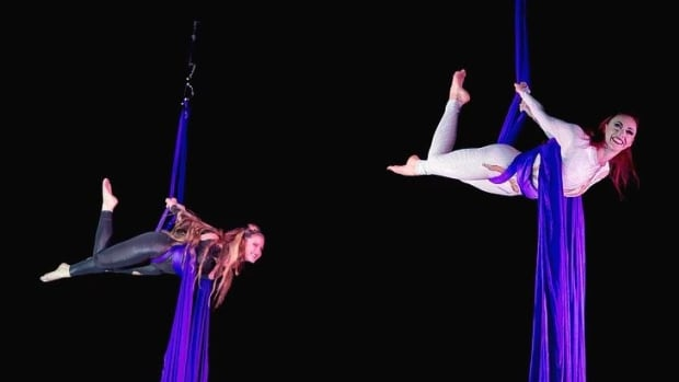 Two performers for Garden Bros. Circus.