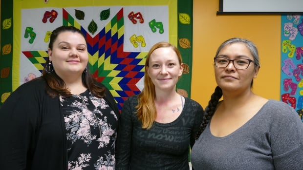 Angela Griffith, Danielle Carter and Deidre Gregory are three of about dozen trained Indigenous doulas now offering service in Brandon.