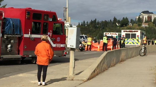 Emergency crews closed the bridge Sunday afternoon after the fatal collision.