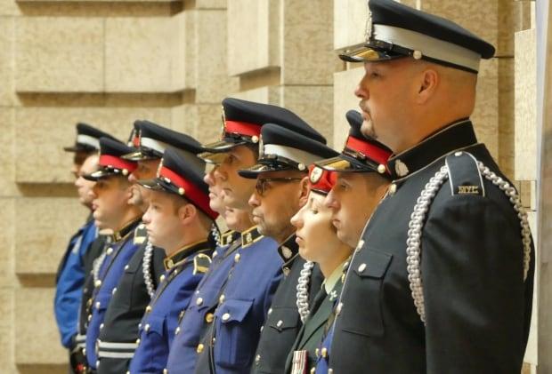 Police memorial service, Manitoba Legislature